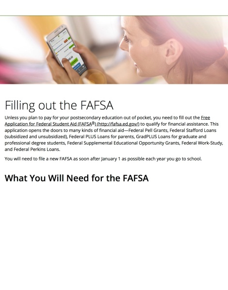 nelnetcom - FAFSA—The First Step to Financial Aid